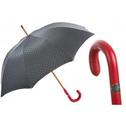 PASOTTI Parasol Męski Gentleman Umbrella142 51404-5 P, długi, luksusowy, skórzana czerwona rączka, modny męski wzór