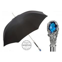 PASOTTI Parasol Męski BLUE GEM 478 6768-1 W68BLU, długi, luksusowy, kryształ Swarovskiego