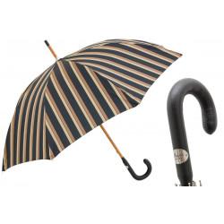Parasol Pasotti męski Classic Striped, 140 Alfred-8 P, skórzany uchwyt