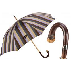 Pasotti Parasol męski w paski 142 6496-12 CBR z litego kasztanowca
