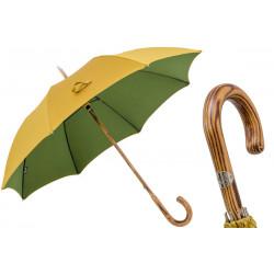 Parasol Pasotti Bicolor Hickory, 142 Double-16 H, uchwyt z hikory