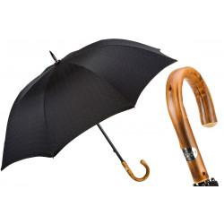Pasotti Parasol męski czarny 145 Minigalles-13 C, uchwyt z drewna kasztanu
