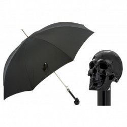 Pasotti Parasol męski LUX 478 7079-8 W33ne - Black Skull Umbrella