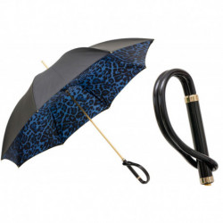 Pasotti Parasol damski Animal 189 5A488-93 A - Animal Print Umbrella in Blue