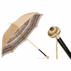 Pasotti Parasol damski Classic 189 5G468-6 U14 - Beige Classic Umbrella, Podwójny materiał