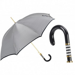 Pasotti Parasol damski Classic 16 1408-48 F - Black Striped Umbrella