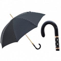 Pasotti Parasol damski Classic 16 1408-10 F - Black & White Polka Dot Umbrella