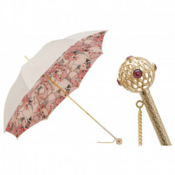 Pasotti Parasol damski Classic 189 9A057-6 A12 - Pink and Ivory Jewel Umbrella