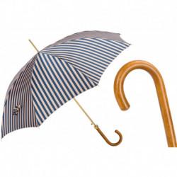 Pasotti Parasol damski Classic 460 21352-3 M - Striped Umbrella with Handle in Malacca