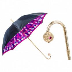 Pasotti Parasol damski Classic 189 30093-3 P17 - Umbrella with Blue Brush Strokes