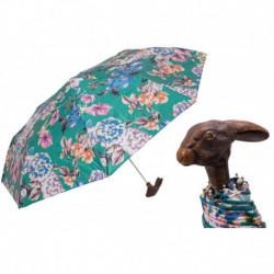 Pasotti Parasol damski składany 257 9A436-5 113 - Folding Umbrella with Rabbit Handle and Flowered Print