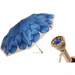Pasotti Parasol damski składany 257 21065-13 P11 - Blue Dahlia Folding Umbrella