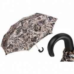 Pasotti Parasol damski składany 257 50998-44 P - Black and Beige Folding Umbrella