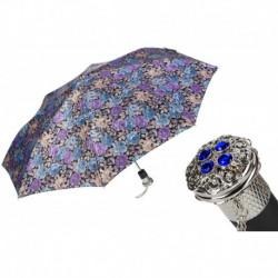 Pasotti Parasol damski składany 261S 57982-9 B54 - Elegant Flowered Folding Umbrella