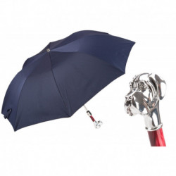 Pasotti Parasol męski składany 64 Pto CN3 W27PR - Polka Dot Labrador Folding Umbrella