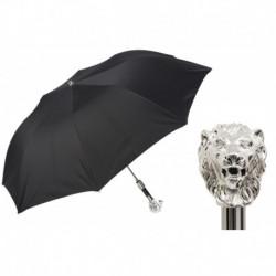 Pasotti Parasol męski składany 64 6768-1 W37 - Silver Lion Folding Umbrella