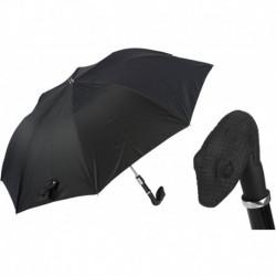 Pasotti Parasol męski składany 64 6768-1 W31G - Rubber Snake Folding Umbrella