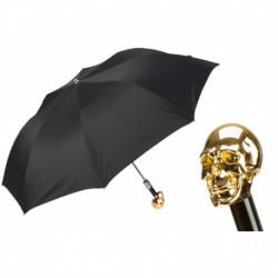 Pasotti Parasol męski składany 64 Oxf-18 W33or - Gold Skull Umbrella
