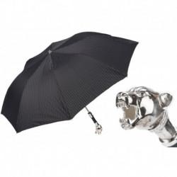 Pasotti Parasol męski składany 64 6277-1 K1v - Vintage Panther Folding Umbrella