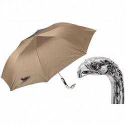 Pasotti Parasol męski składany 64 6768-8 W18 - Silver Eagle Folding Umbrella