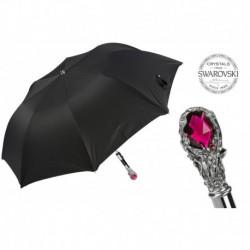 Pasotti Parasol męski składany 64 Oxf-18 W68 - Ruby Luxury Umbrella, Red Gem Handle