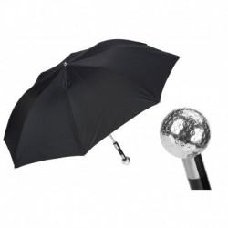 Pasotti Parasol męski składany 64 5973-2 W82 - Silver Golf Ball Folding Umbrella