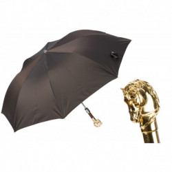Pasotti Parasol męski składany 64 6768-3 W41or - Golden Horse Folding Umbrella