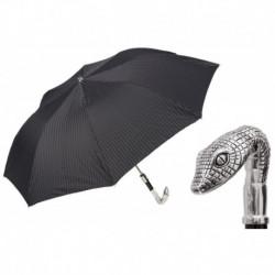 Pasotti Parasol męski składany 64 6277-1 W31 - Head of Snake Folding Umbrella