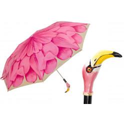Pasotti Parasol damski składany 257 21065-30 K9 - Flamingo