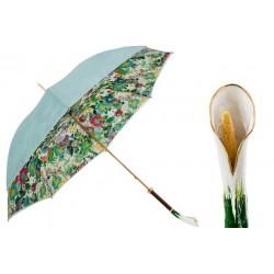 PASOTTI Parasol Damski CALLA, luksusowy, podwójny baldachim, przepiękna rękojeść
