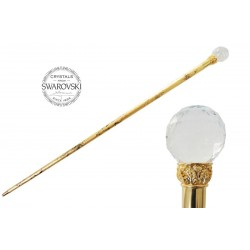 Laska Pasotti Swarovski Crystal Ball, Gold Shaft, ba W01or