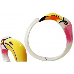 Naszyjnik Pasotti Gi K9 - Flamingo Naszyjnik, Emaliowany mosiądz