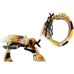 Mosiężna bransoletka Pasotti Br K15 - Bee Bracelet, kryształy Swarowskiego