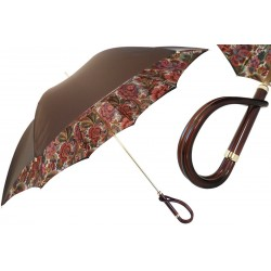 PASOTTI Parasol Damski BROWN FLOWERED INRERIOR