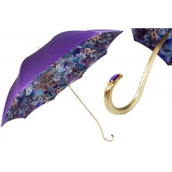 PASOTTI Parasol Damski PURPLE PRINT LUXURY