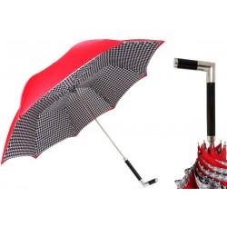 PASOTTI Parasol Damski Red PEPITKA, podwójny baldachim