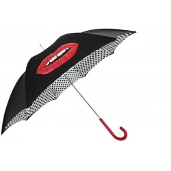 PASOTTI Parasol Damski GLAMOUR MOUTH WITH POLKA