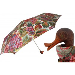 Parasol Pasotti Flowered Folding with Duck Handle, 257 58112-19 103