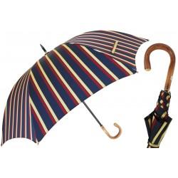 Parasol Pasotti Large Striped, Chestnut Handle, 145 Alfred-1 C