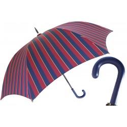 Parasol Pasotti Large Striped, Leather Handle, 145 Conrad-1 P
