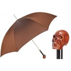 Parasol Pasotti z brązowym uchwytem w kształcie czaszki, 478 6768-4 W33le