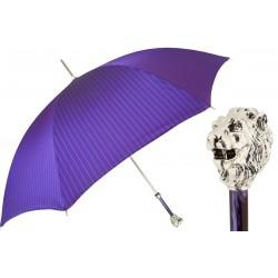 Parasol Pasotti Purple with Silver Lion Handle, 478 1084-7 W37PV