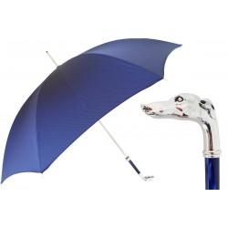 Parasol Pasotti Blue, Silver Greyhound Handle, 478 Oxf-8 W39PB
