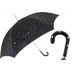 Parasol Pasotti Black Camouflage, Leather Handle with Skulls, 478 11780-142 H39T