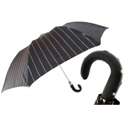 Parasol Pasotti Folding with Studs Leather Handle, 64 1094-1 H34