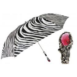 Parasol Pasotti Zebra Print Luxury, Red Gem Handle, 64 21028-55 W68