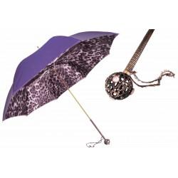 Parasol Pasotti Purple Leopard Print, podwójny materiał, 189 52417-22 U16