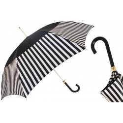 Parasol Pasotti Black with Striped Band, 337 21352-5 V