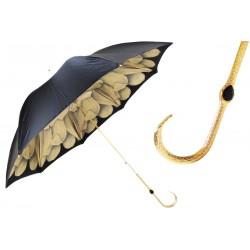 Parasol Pasotti Sandy Dahlia with Black Exterior, podwójny materiał, 189 21065-51 B10