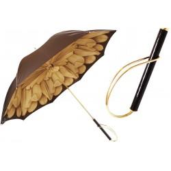 Parasol Pasotti Brown Dahlia, podwójny materiał, 189 21065-40 S